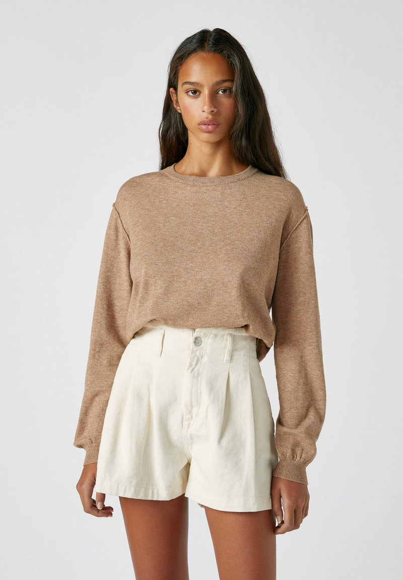 PULL&BEAR - Jumper - mottled brown