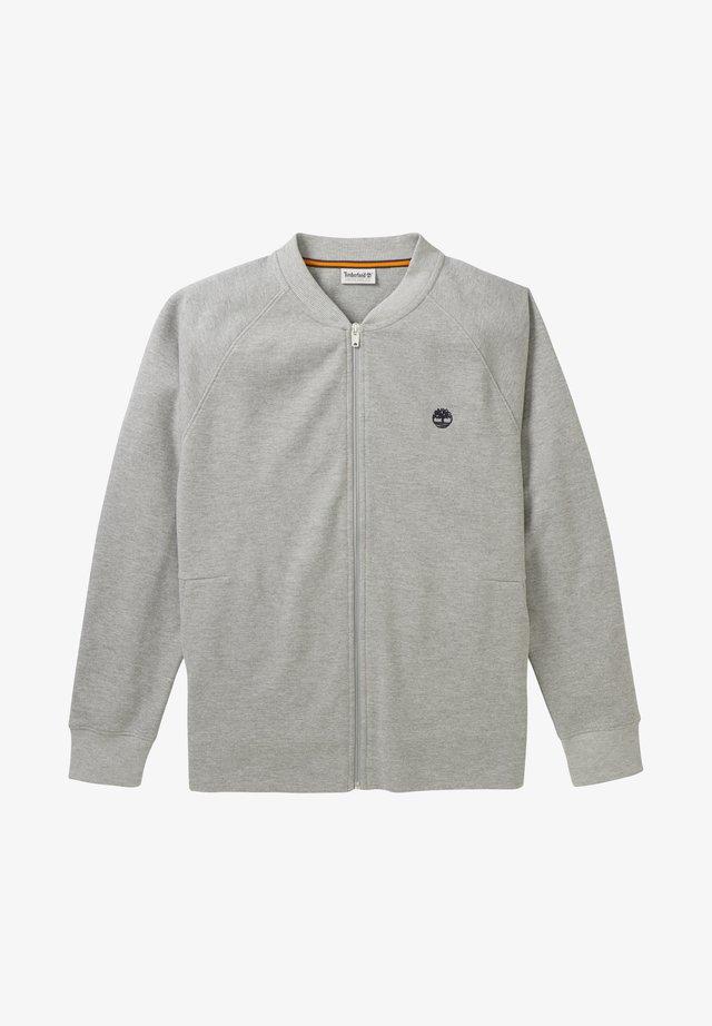 MOLLIDGEWOCK BROOK PIQUE MELANGE FULL ZIP - Sweatshirt - medium grey heather