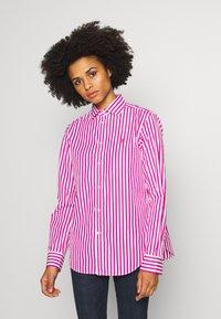 Polo Ralph Lauren - GEORGIA LONG SLEEVE SHIRT - Button-down blouse - pink/white - 0