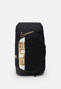 Nike Performance - HOOPS ELITE PRO BACK PACK - Rucksack - black/white/metallic gold - 0