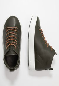 ECCO - SOFT - Höga sneakers - deep forest - 1