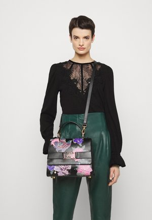 FLORAL TOP HANDLE - Borsa a mano - fantasy/black