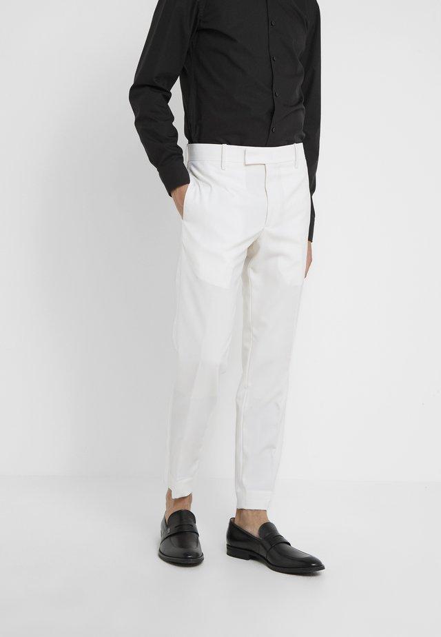 GENT FORMAL TROUSER - Pantalon de costume - white