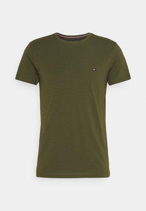 STRETCH SLIM FIT TEE - T-shirts basic - olivewood