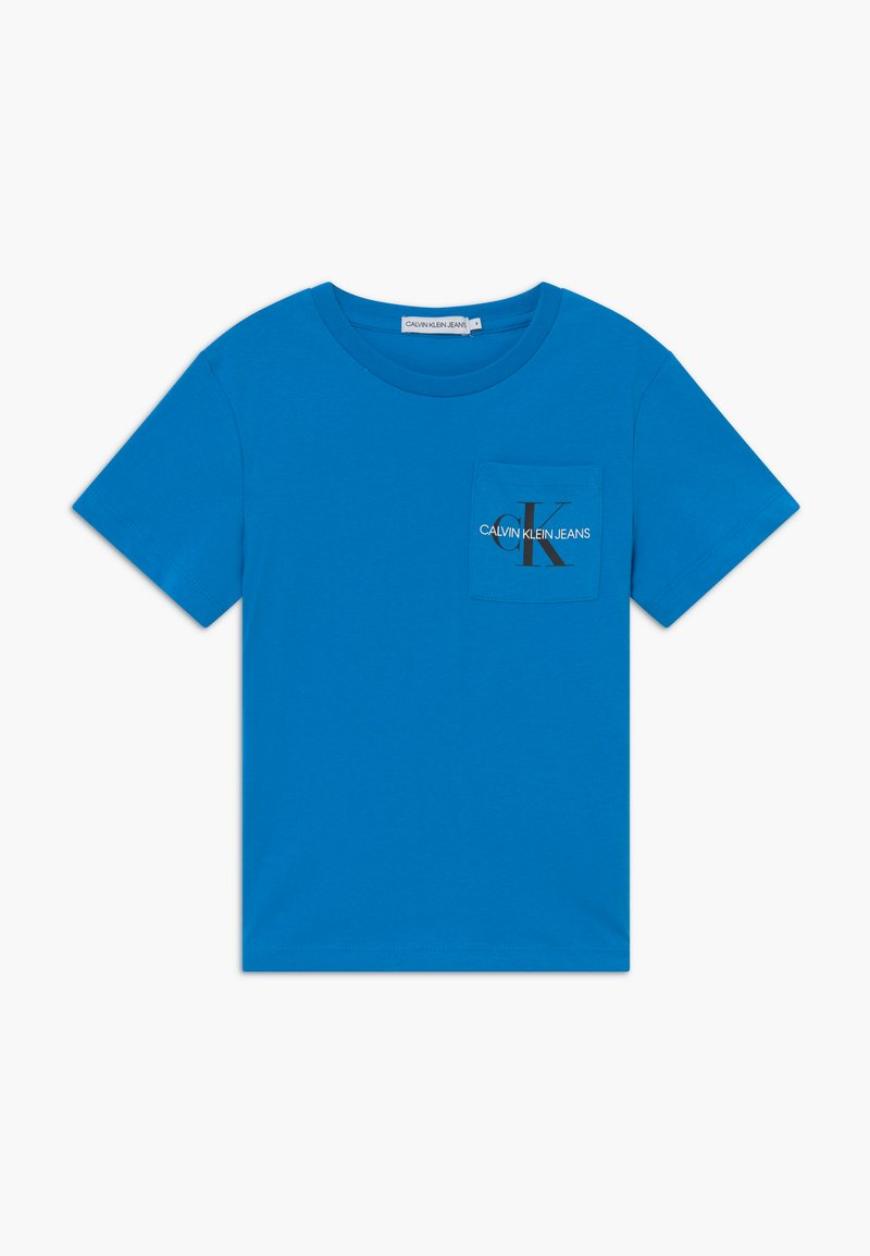 Calvin Klein Jeans - MONOGRAM POCKET  - Print T-shirt - blue