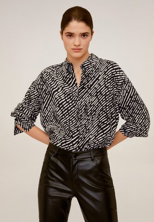 ELEA - Button-down blouse - schwarz