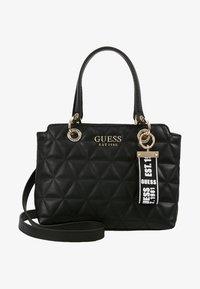 Guess - LAIKEN SMALL SATCHEL - Handbag - black - 5