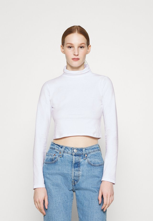 EVERYDAY CHOP MOCK NECK LONG SLEEVE - Pitkähihainen paita - white