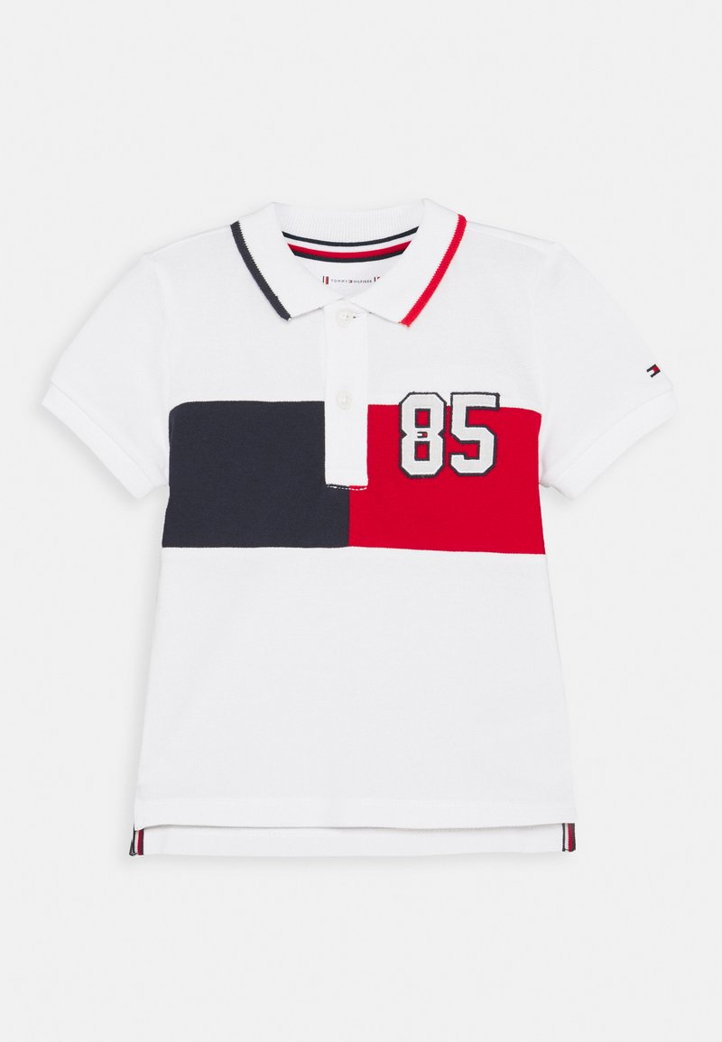 Tommy Hilfiger - BABY COLORBLOCK UNISEX - Polo shirt - white