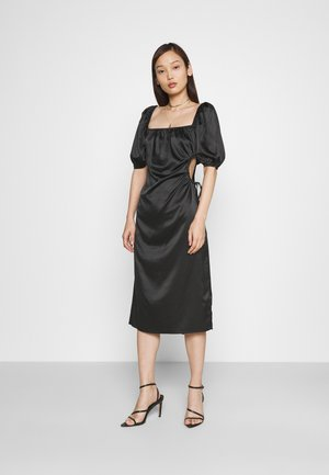 PUFF SLEEVE CUT OUT DRESS - Cocktail dress / Party dress - black