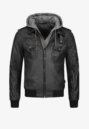AARON - Faux leather jacket - black