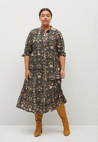 Violeta by Mango - NATALIA - Shirt dress - schwarz - 1