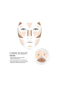 Nyx Professional Makeup - 3 STEPS TO SCULPT - Contouring - 4 deep - 3