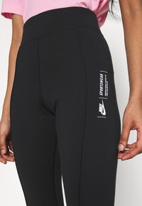 Nike Sportswear - LEGASEE ZIP - Leggings - black/white - 5