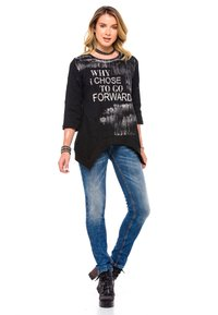 Cipo & Baxx - MIT COOLEM DOPPEL-BUND - Slim fit jeans - blau - 1