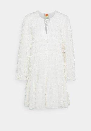 FRINGE DETAIL MINI DRESS - Robe d'été - cream