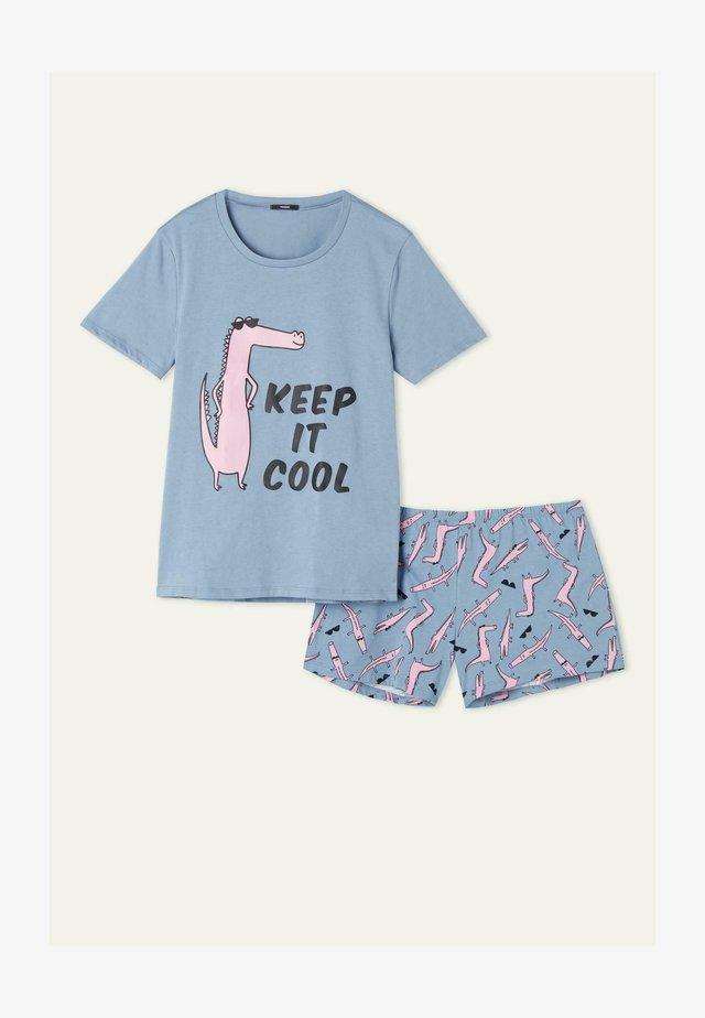 """KEEP IT COOL"" PRINT - Nachtwäsche Set - celeste st.keep it cool"