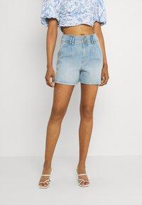 JDY - JDYCARMEN LIFE POCKET - Denim shorts - light blue denim - 0