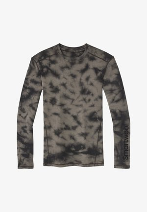 MIDWEIGHT 250 BASELAYER PLANT-BASED DYE LOGO CREW - Long sleeved top - black marble wash