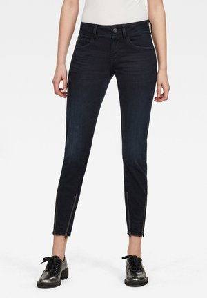 LYNN 2-ZIP MID SKINNY ANKLE - Jeans Skinny - worn in night destroyed