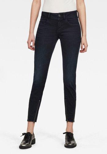 LYNN 2-ZIP MID SKINNY ANKLE - Jeans Skinny Fit - worn in night destroyed