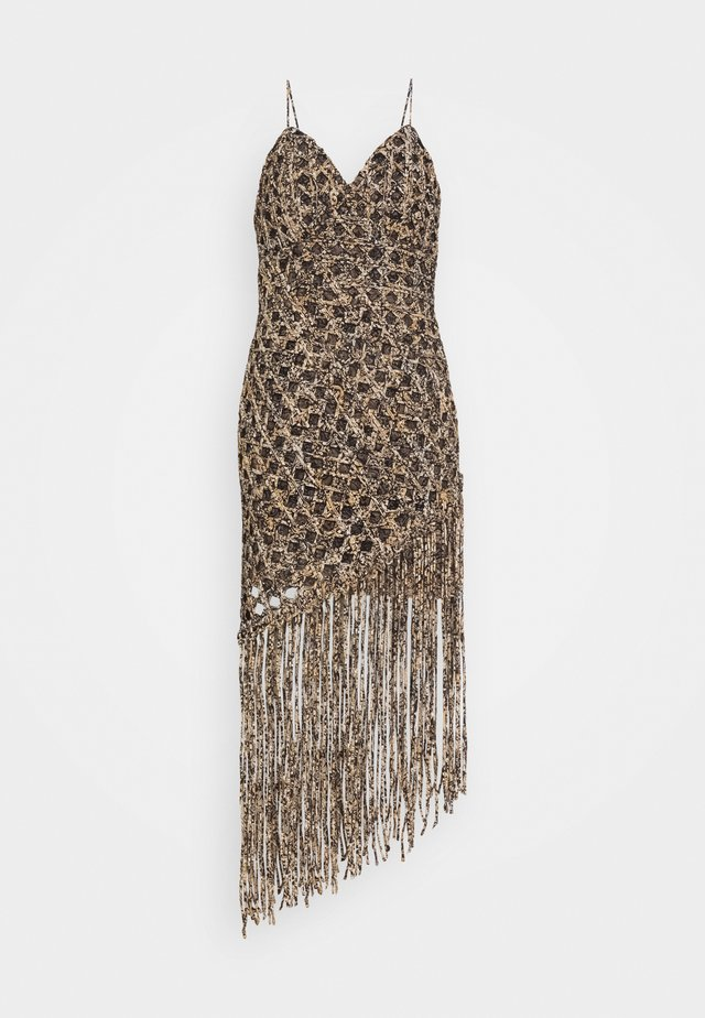 MACRAME DRESS - Maxi dress - gold