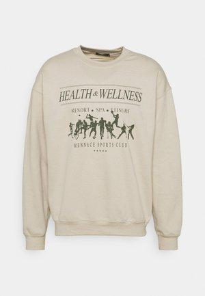 MENNACE HEALTH WELLNESS REGULAR  - Sweatshirt - beige