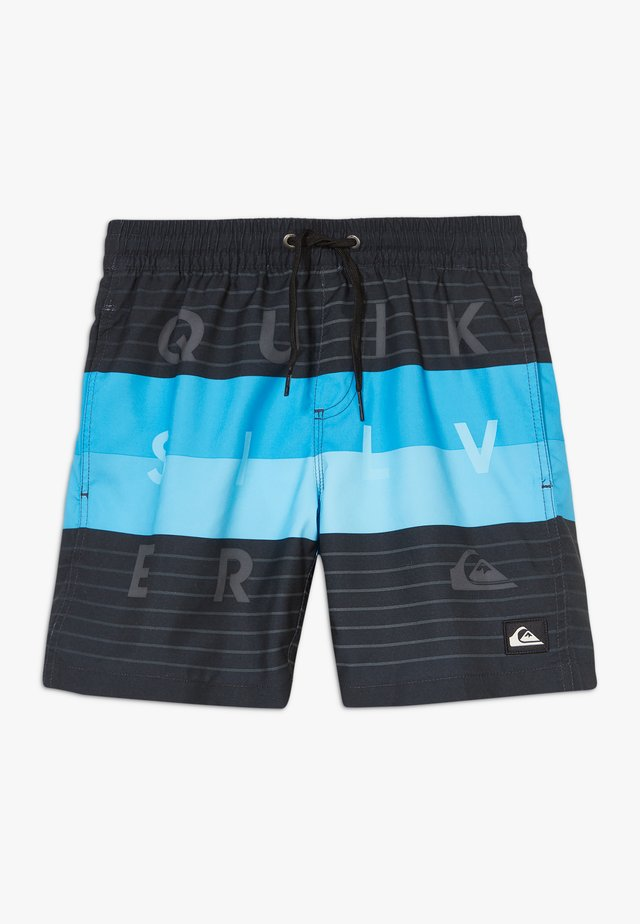 WORD BLOCK VOLLEY YOUTH - Swimming shorts - black vacancy