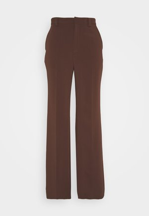 VICTORIA TROUSERS - Trousers - umber