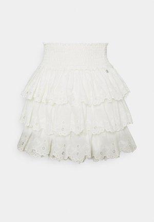 NUNA BRODERIE ANGLASIE LAYER SKIRT - Mini skirt - white
