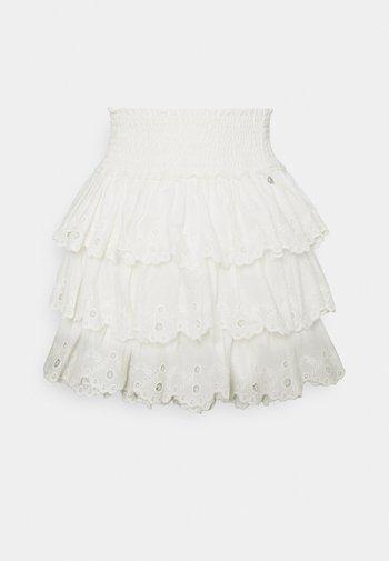 NUNA BRODERIE ANGLASIE LAYER SKIRT - Miniskjørt - white