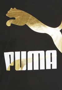 Puma - CLASSICS LOGO TEE - T-shirt con stampa - black/metallic - 5