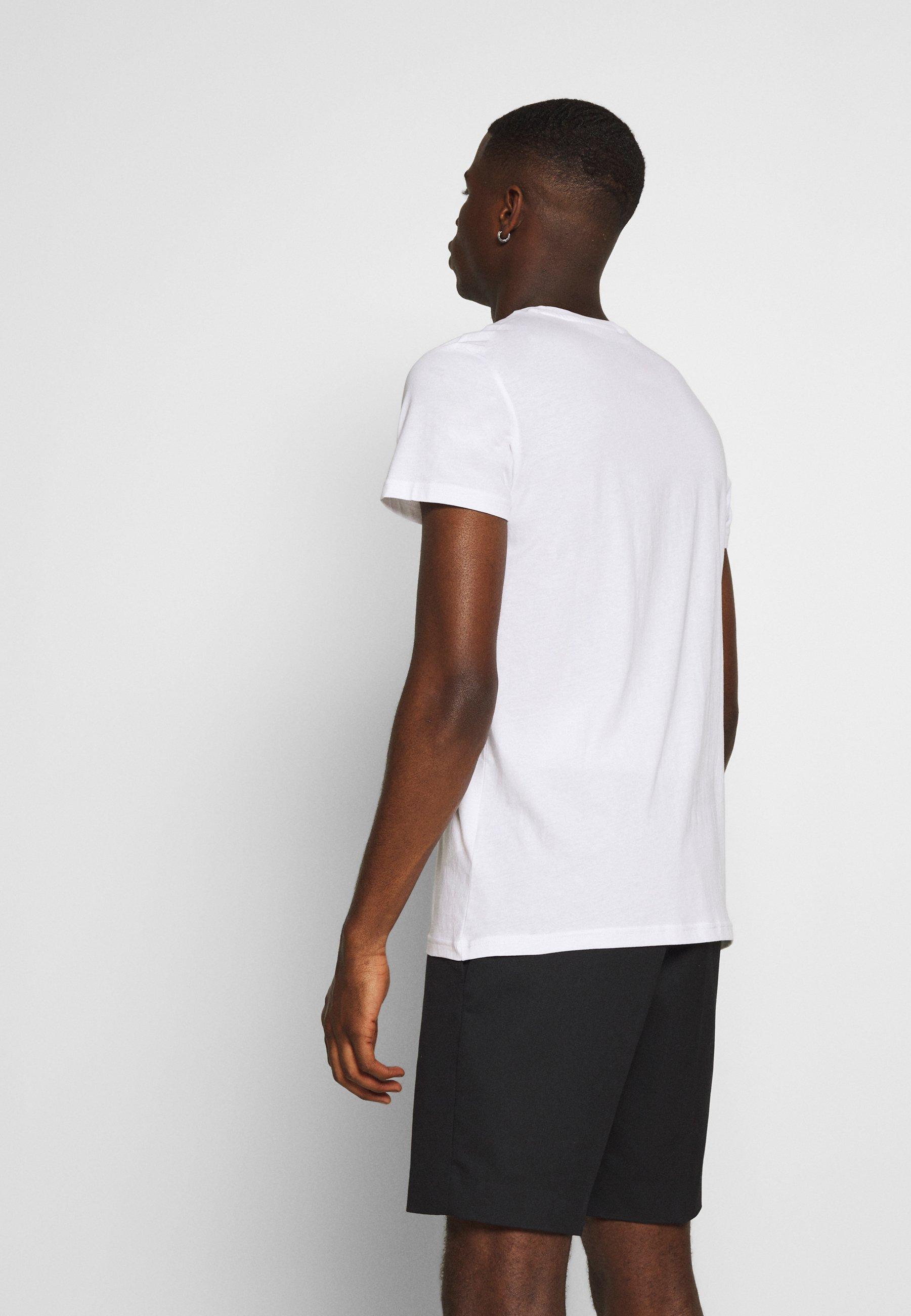 Lee TWIN 2 PACK - Print T-shirt - white/sky blue GMTtt