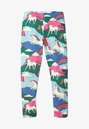 Leggings - Trousers - bunt, berge mit einhörnern