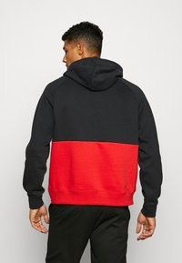 Nike Sportswear - AIR HOODIE - Hoodie - black/white/university red - 2