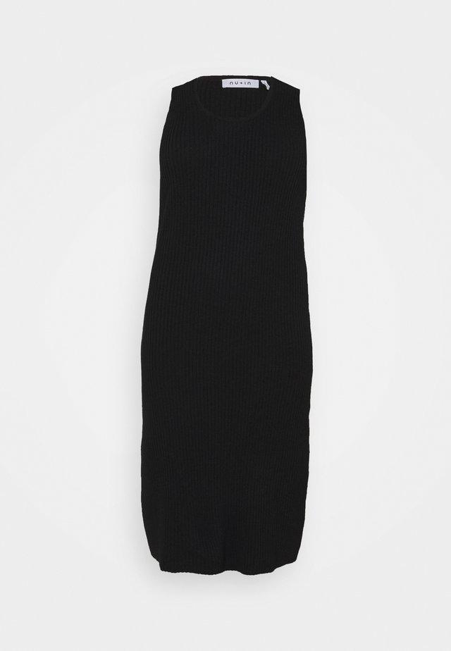 SLEEVELESS MIDI DRESS - Vestido informal - black