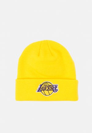 NBA LA LAKERS CUFFED UNISEX - Čepice - bright yellow