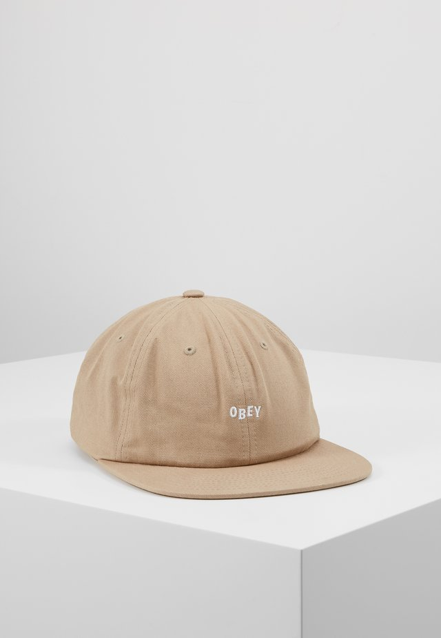 JUMBLED 6 PANEL STRAPBACK - Pet - khaki