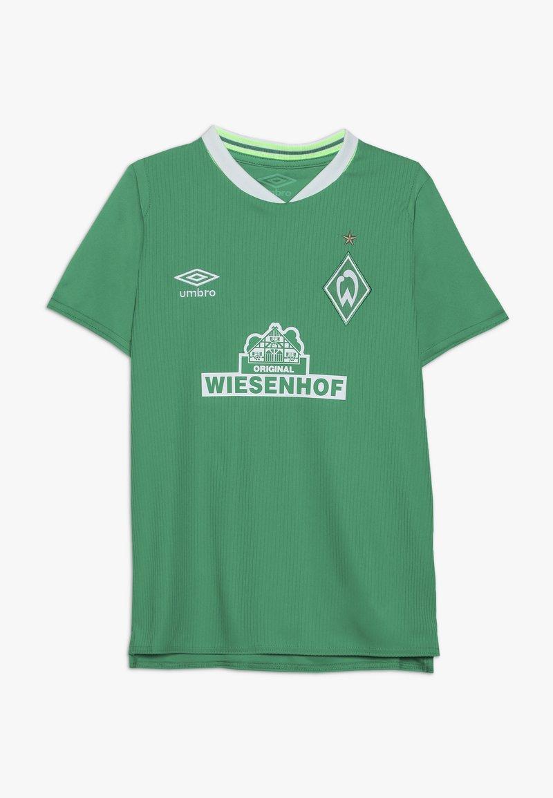 Umbro - WERDER BREMEN HOME - Print T-shirt - golf green/brilliant white