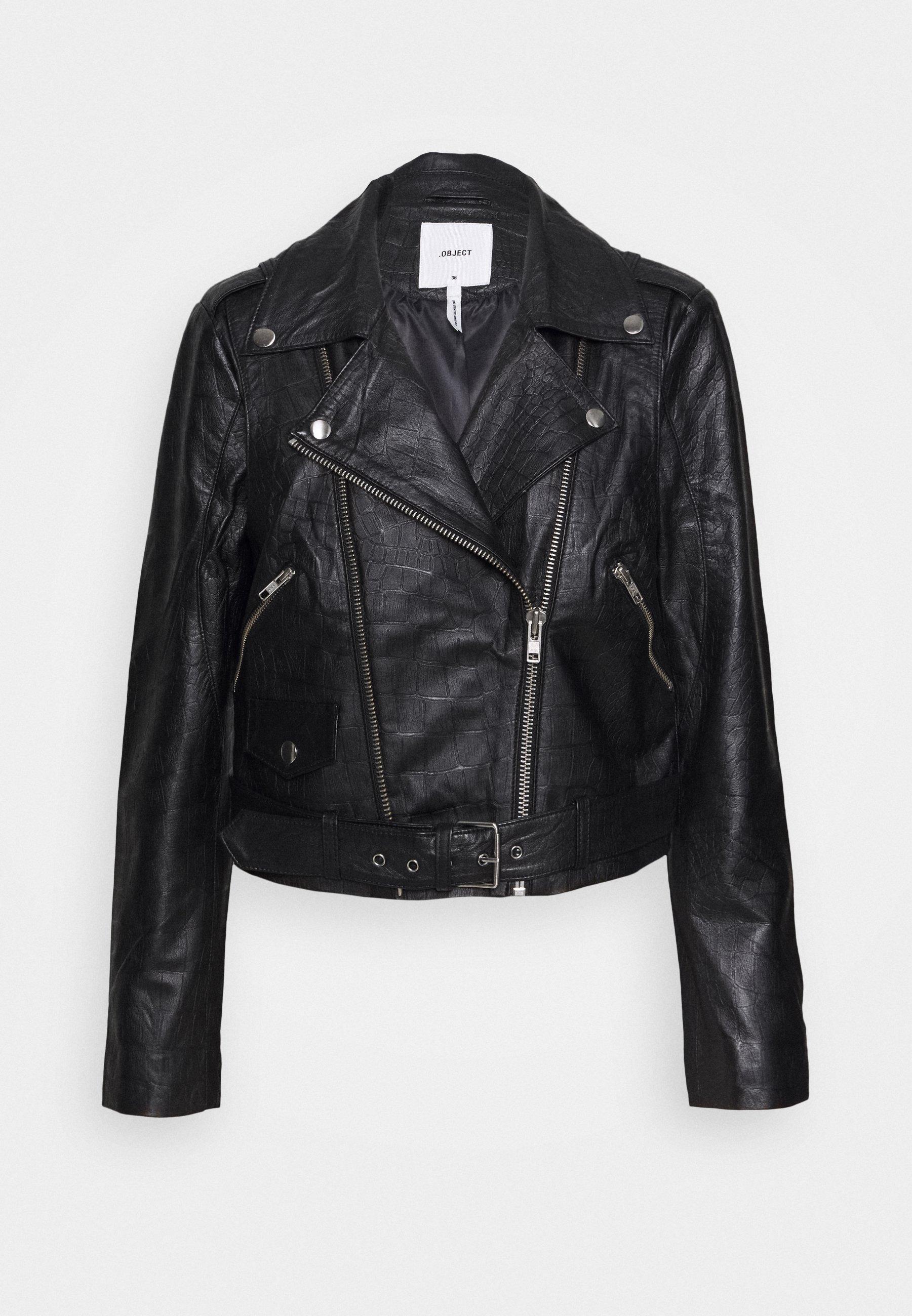 Women OBJTIFANNY - Leather jacket