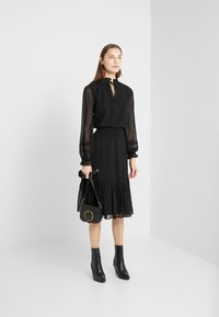 Lauren Ralph Lauren - SWISS DOT DRESS - Kjole - polo black - 1
