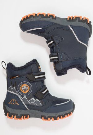 RESCUE TEX - Winter boots - navy/orange