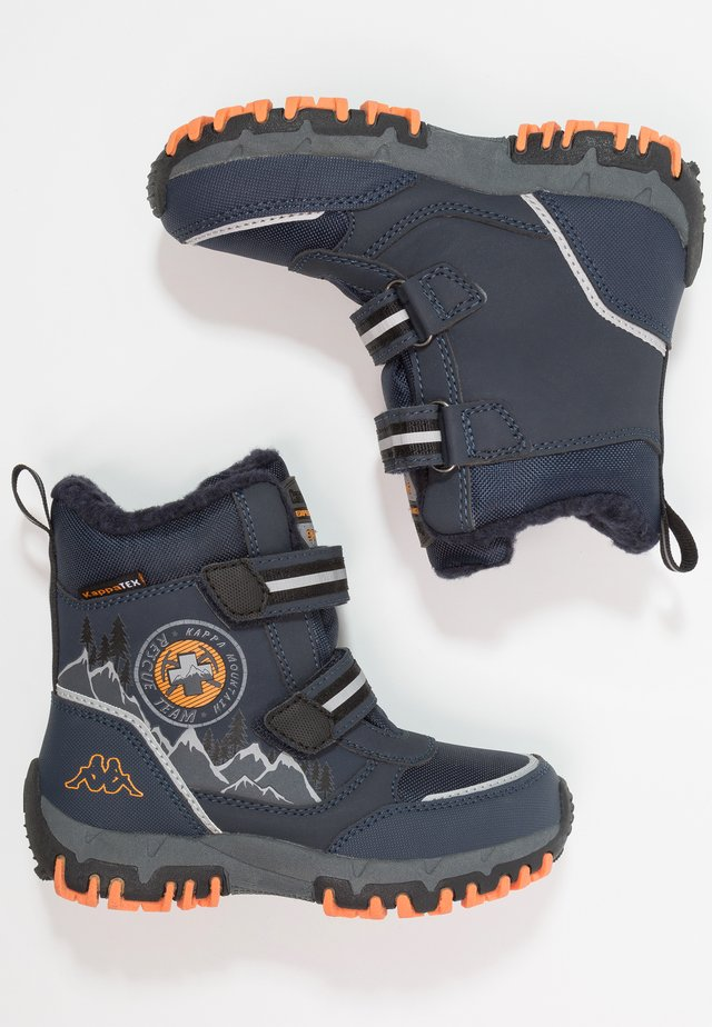 RESCUE TEX - Vinterstövlar - navy/orange