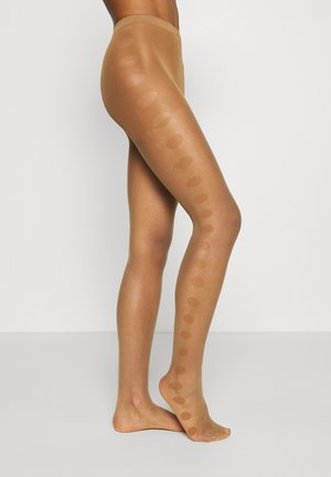 GLAMOUR DOT TI FALKE GLAMOUR DOT 15 DENIER STRUMPFHOSE TRANSPARENT FEIN NUDE - Tights - powder