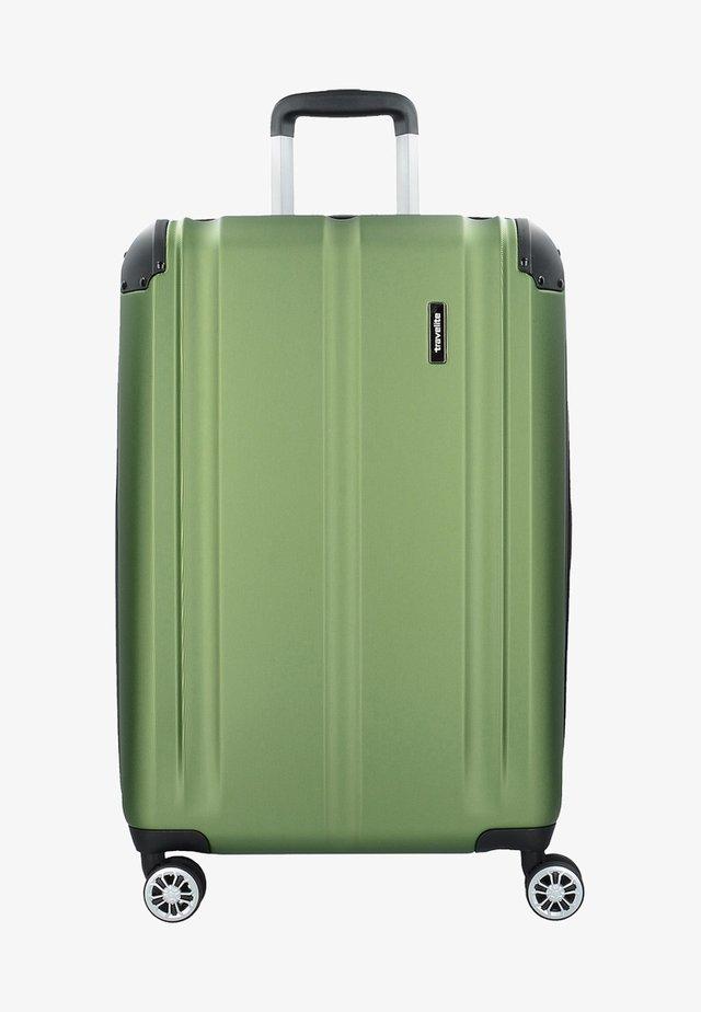 CITY  - Wheeled suitcase - green