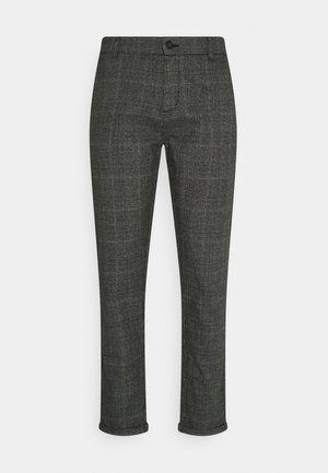 CHECKED CLUB PANTS - Broek - dark grey