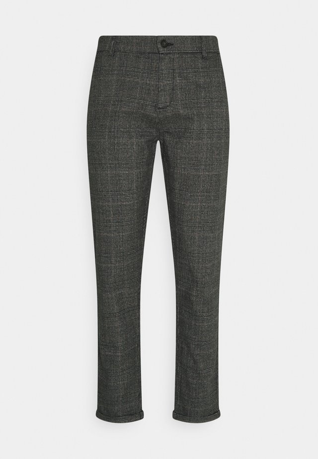 CHECKED CLUB PANTS - Pantalones - dark grey