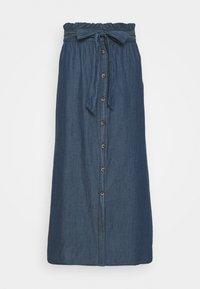 Pieces - PCELSA SKIRT - A-line skirt - dark blue denim - 3