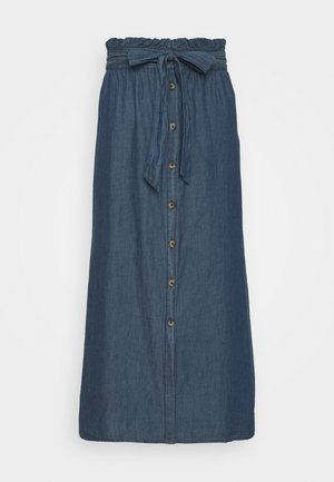 PCELSA SKIRT - A-line skirt - dark blue denim