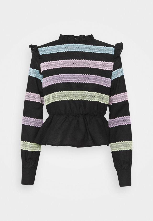 SUSAN BLOUSE - Langarmshirt - black